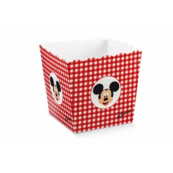 Vaso contenitore rosso quadri Disney Lei/Lui