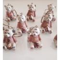 Kit 10 Portachiavi di Orsi Rosa in resina - Margot Italia