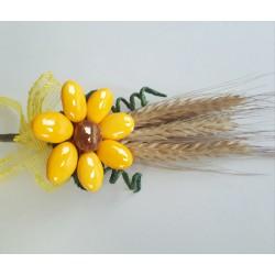 Fiore di confetto Girasole con Spighe