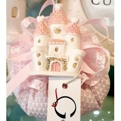 Puffo rosa con magnete Castello