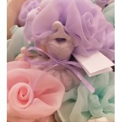 Rosa Georgette p/confetti - RedRose