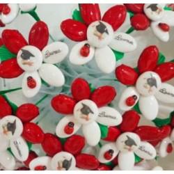 Fiore Tocco Laurea con coccinella