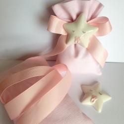 "Kit sacchetto con magnete stellina ""Baby Rosa"""