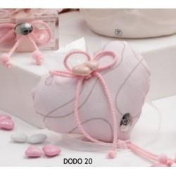 Sacchetto rosa completo in piquet glitterato - Cherry&Peach