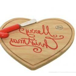 Tagliere cuore Natale - AD Bomboniere