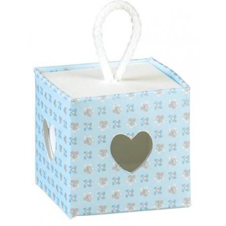 Cubo Cuore portaconfetti 5x5x5 - Cielo