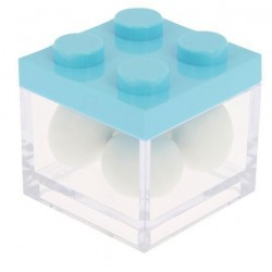 Box Lego in plexiglass 5x5x5 Cielo - 12pz