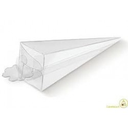Piramide trasparente portaconfetti in PVC 4x4x15