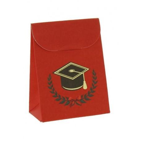 Astuccio Laurea portaconfetti 6x3,5x8 - Rosso