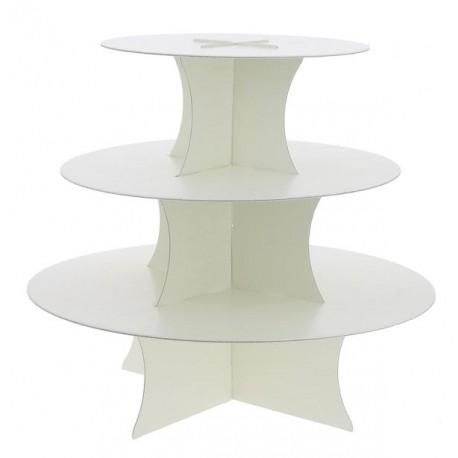 Alzata semplice 3 piani - bianca