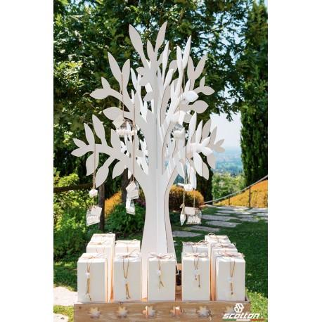 Olmo in Cartone Bianco - 120 cm