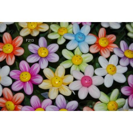 Fiore 5 Confetti di Sulmona al cioccolato, fiori verdi