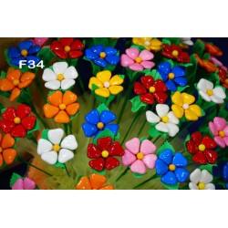 Fiore Margherita Cuore Colorata