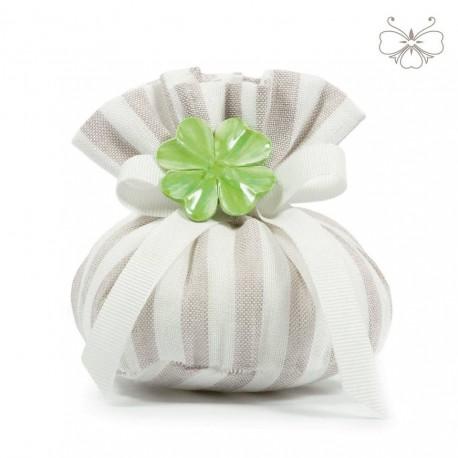 Puffo Lino rigato - linea marshmallow