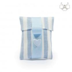Tasca Lino rigata con cuore - linea marshmallow