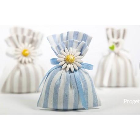 Sacchetto Lino rigato - linea marshmallow
