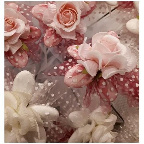 Fiore con Rosa pois rosa
